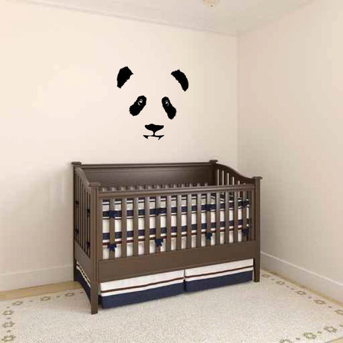 Panda Bear Face Vinyl Wall Decal Sticker Graphic  - 1