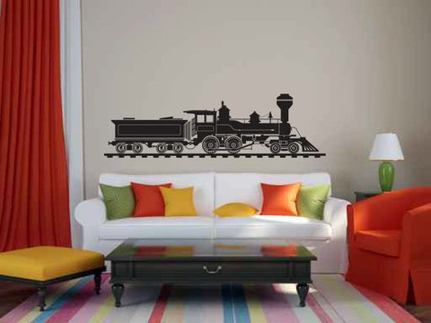 Train Vinyl Wall Decal Sticker Graphic  - 1