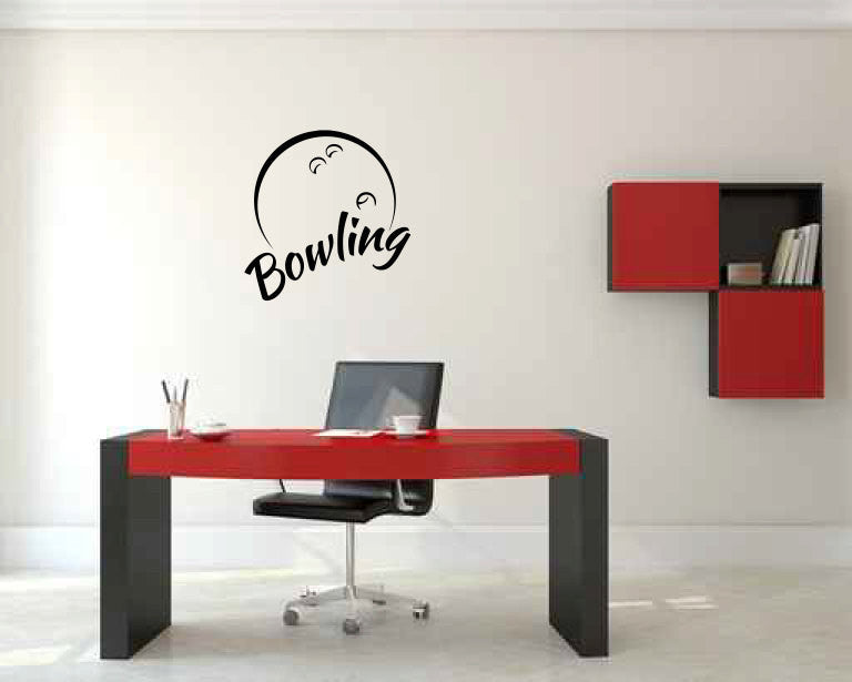 Bowling Ball Vinyl Wall Decal Sticker Graphic  - 1