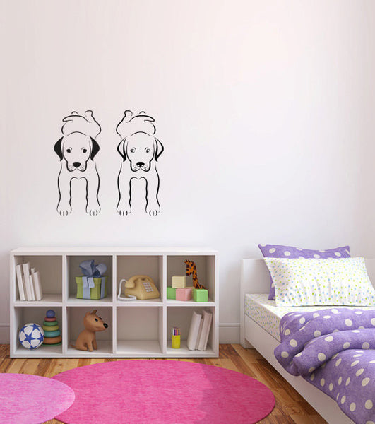 Dogs Vinyl Wall Decal Sticker Graphic  - 1
