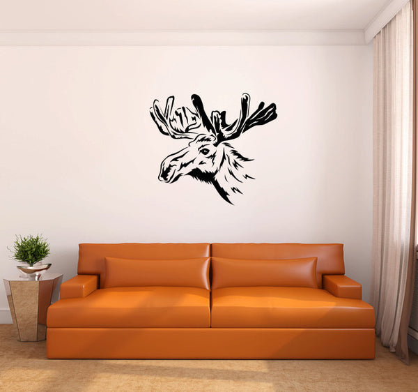 Moose Head Wall Decal Sticker Graphic  - 1