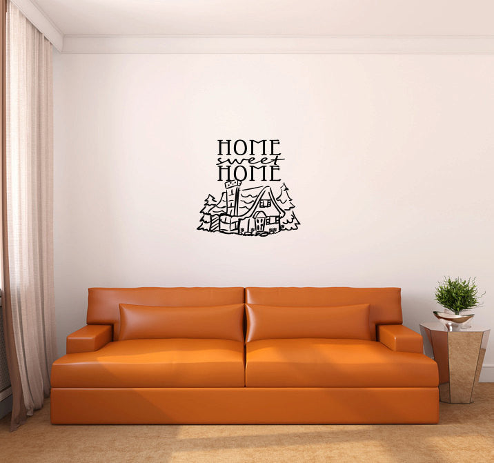 Home Sweet Home Vinyl Wall Decal Sticker Graphic  - 1