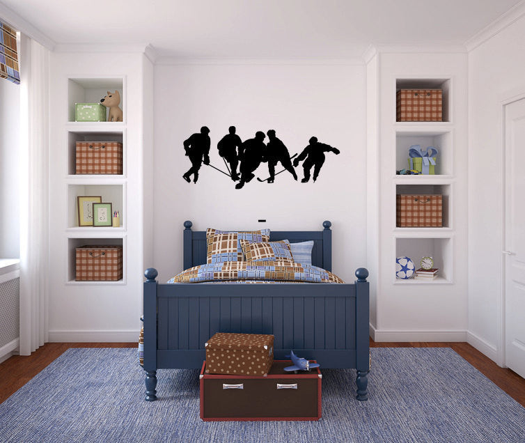 Hockey Players Vinyl Wall Decal Sticker Graphic  - 1