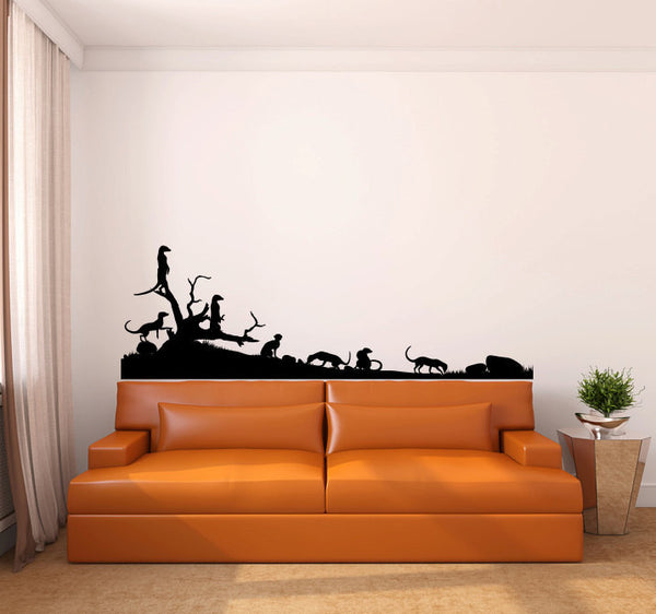 Meerkats Vinyl Wall Decal Sticker Graphic  - 1