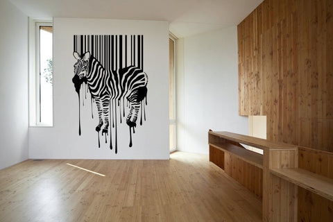 Zebra Stripes Paint Drips Vinyl Wall Decal Sticker Graphic  - 1