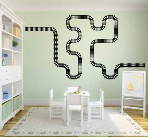 Train Tracks Vinyl Wall Decal Sticker Graphic  - 1