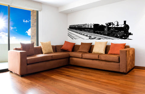 Huge Train Vinyl Wall Decal Sticker Graphic  - 1