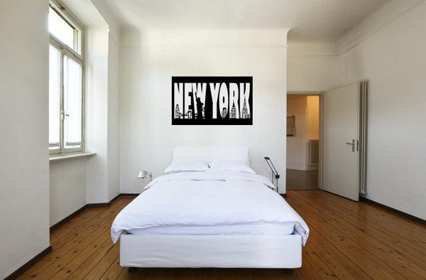 New York Vinyl Wall Words Decal Sticker Graphic  - 1