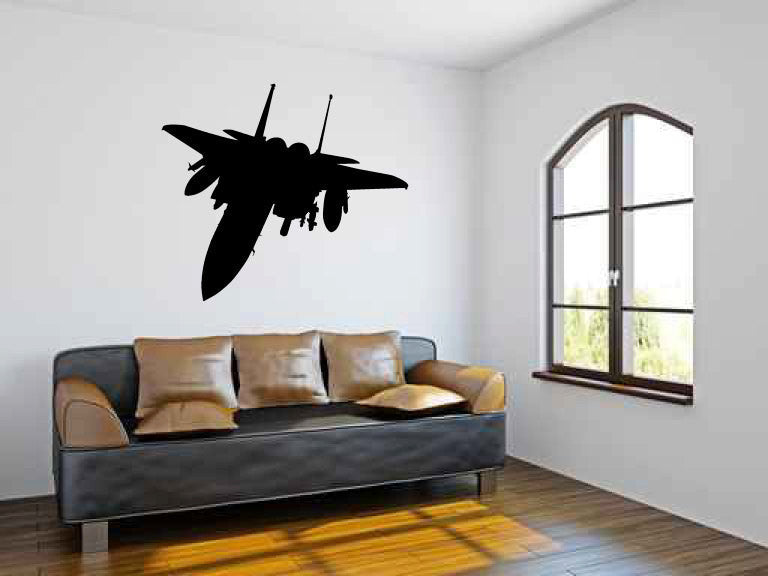F-15 Military Fighter Jet Airplane Vinyl Wall Decal Sticker Graphic  - 1