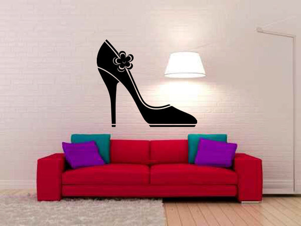Sexy Shoe Silhouette Vinyl Wall Decal Sticker Graphic  - 1