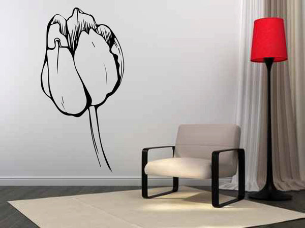 Tulip Bud Flower Vinyl Wall Decal Sticker Graphic  - 1