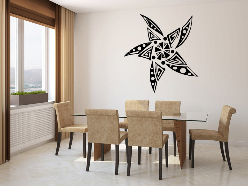 Tribal Star Vinyl Wall Decal Sticker Graphic  - 1