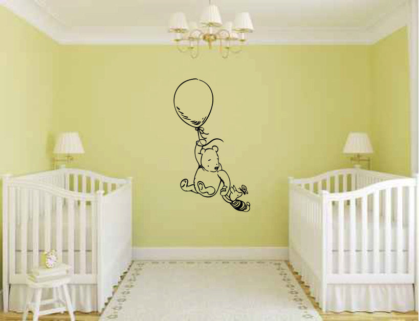 Pooh Bear and Piglet Vinyl Wall Decal Sticker Graphic  - 1