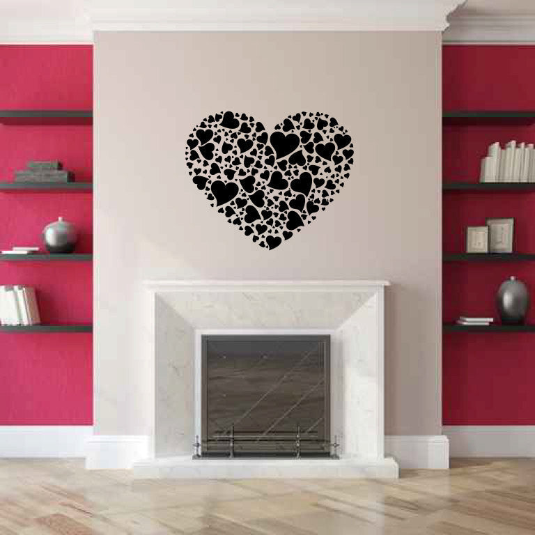 Heart of Hearts Vinyl Wall Decal Sticker  - 1