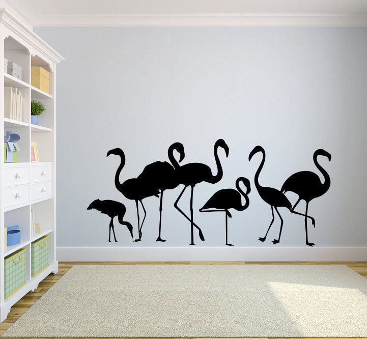 Tropical Flamingo Family Bird Vinyl Wall Decal Sticker Graphic  - 1