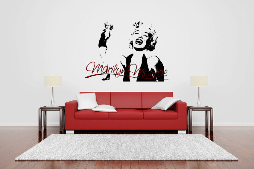 Marilyn Monroe Vinyl Wall Decal Sticker Graphic  - 1