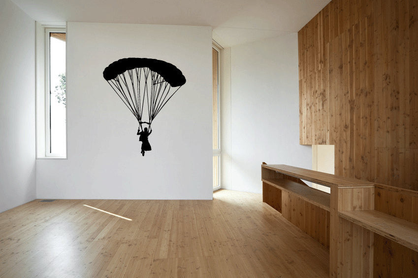 Sky Diver and Parachute Sky Diving Vinyl Wall Decal Sticker Graphic  - 1