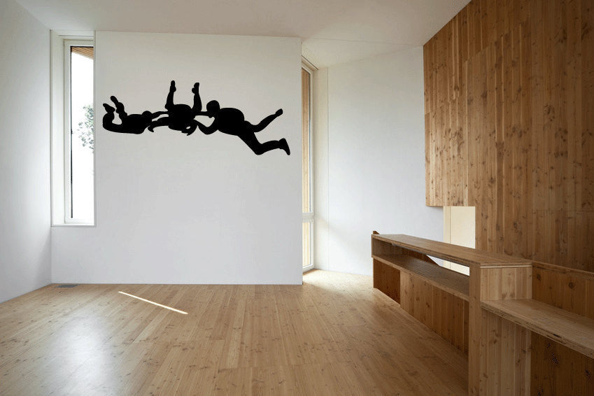 Sky Divers Sky Diving Vinyl Wall Decal Sticker Graphic  - 1