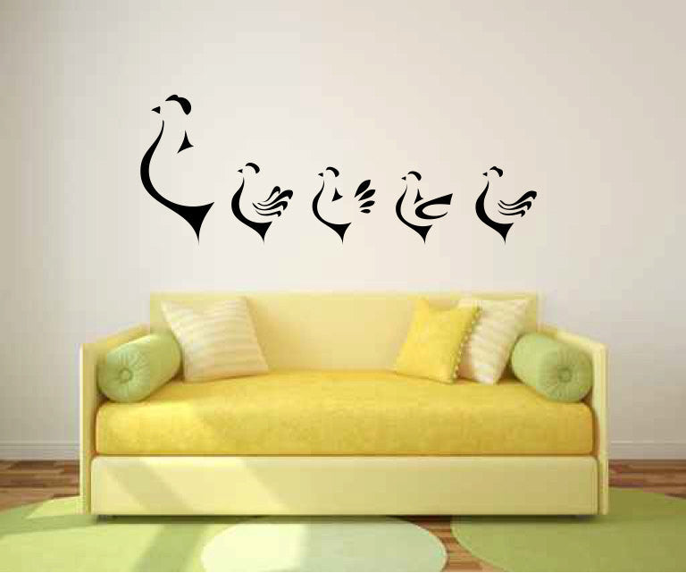 Hens Chickens Vinyl Wall Decal Sticker Graphic  - 1