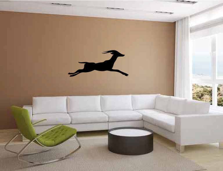 Deer Running Vinyl Wall Decal Sticker Graphic  - 1
