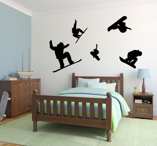 Snowboarders Snow Board Vinyl Wall Decal Sticker Graphic  - 1