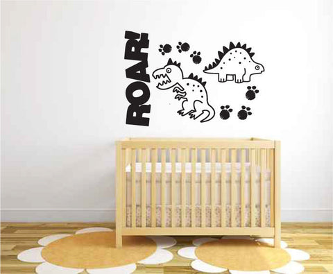 Cute Dinosaurs Roar Wall Decal Sticker Graphic  - 1