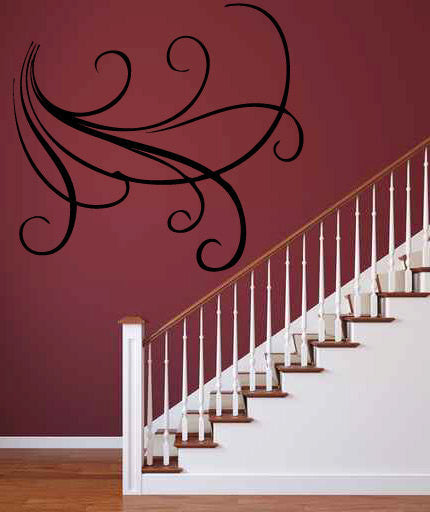 Swirl Lines Vinyl Wall Decal Sticker  - 1