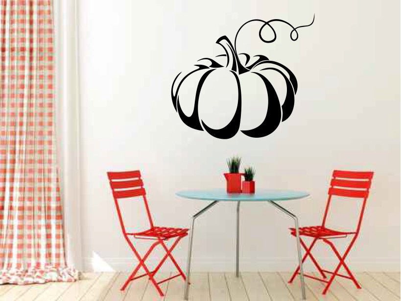 Pumpkin Vinyl Wall Decal Sticker Graphic  - 1
