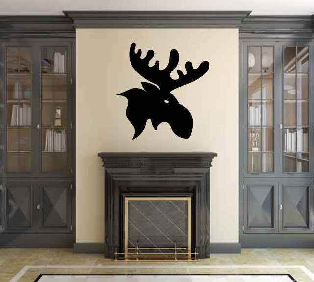 Moose Head Vinyl Wall Decal Sticker Graphic  - 1