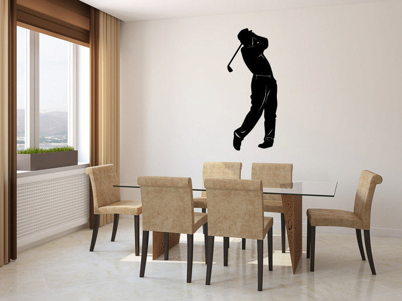 Golfer Vinyl Wall Decal Sticker Graphic  - 1