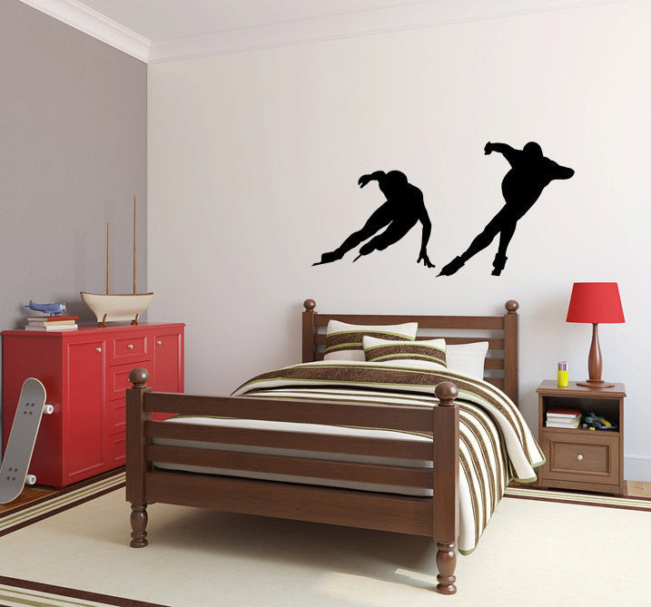 Speed Skaters Vinyl Wall Decal Sticker Graphic  - 1