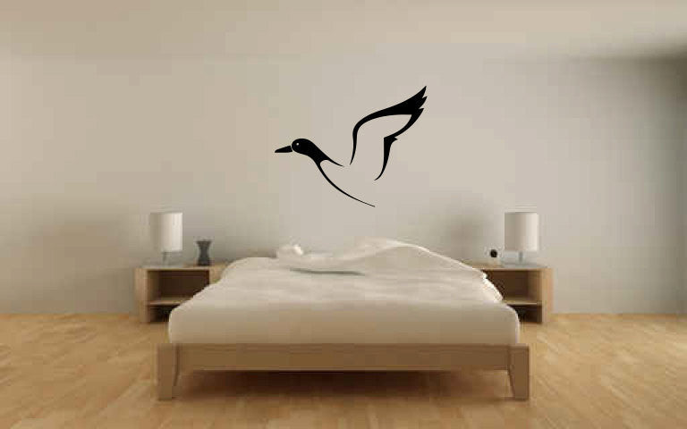Flying Duck Vinyl Wall Decal Sticker Graphic  - 1