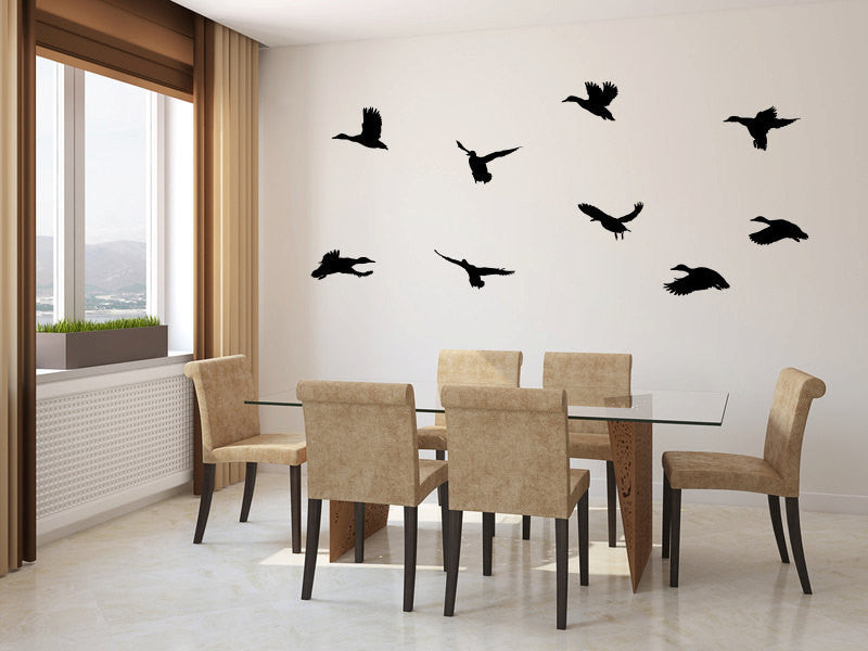 Ducks Flying Vinyl Wall Decal Sticker Graphic  - 1