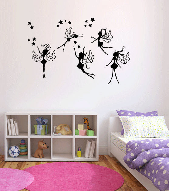 Whimsy Fairies Vinyl Wall Decal Sticker Graphic  - 1