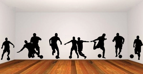 Soccer Players Vinyl Wall Decal Sticker Graphic  - 1