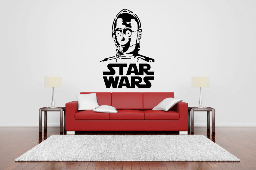 Star Wars C-3PO Vinyl Wall Decal Sticker Graphic  - 1