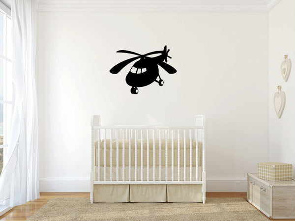 Helicopter Vinyl Wall Decal Sticker Graphic  - 1