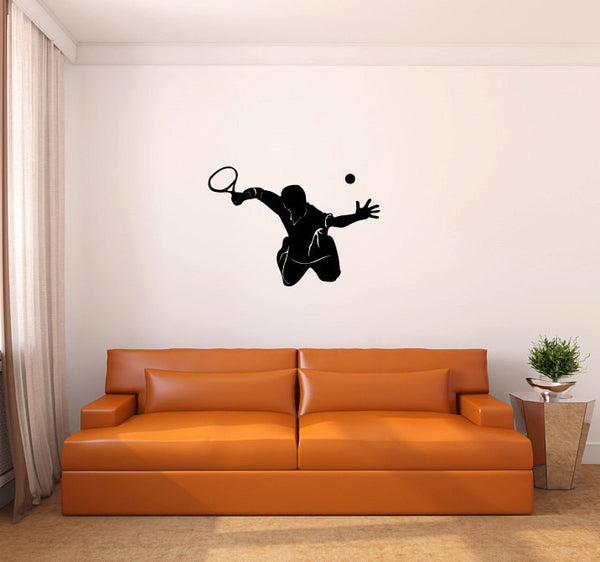 Tennis Player Vinyl Wall Decal Sticker Graphic  - 1