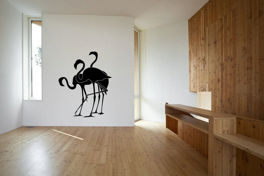Flamingos Vinyl Wall Decal Sticker Graphic  - 1
