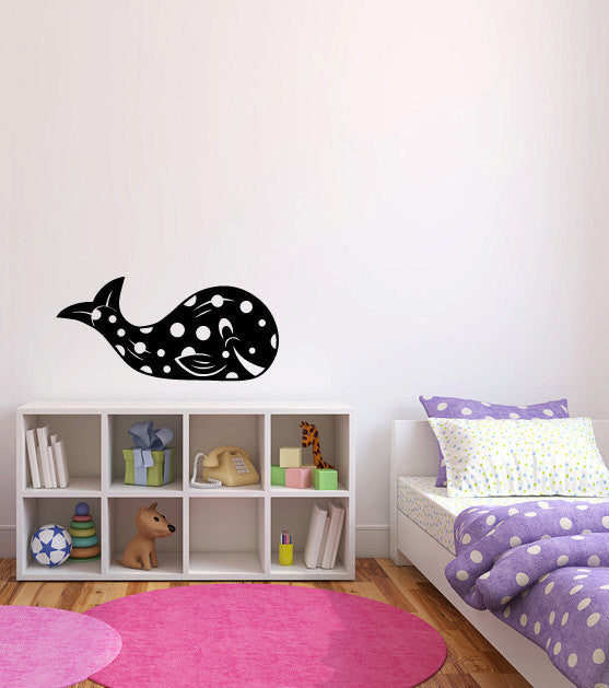 Whale Baby Vinyl Wall Decal Sticker Graphic  - 1