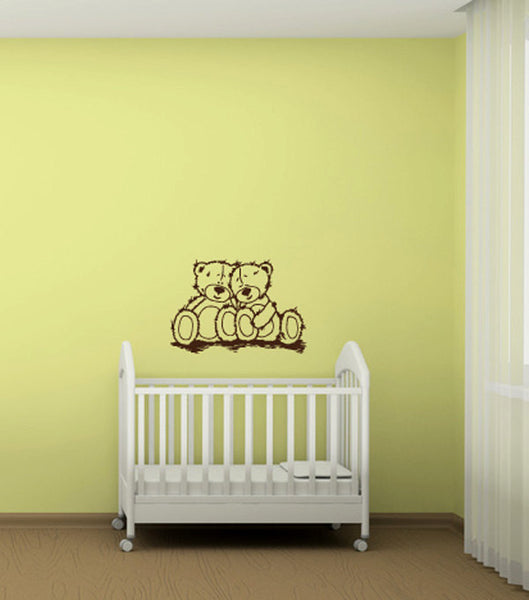 Teddy Bears Vinyl Wall Decal Sticker Graphic  - 1