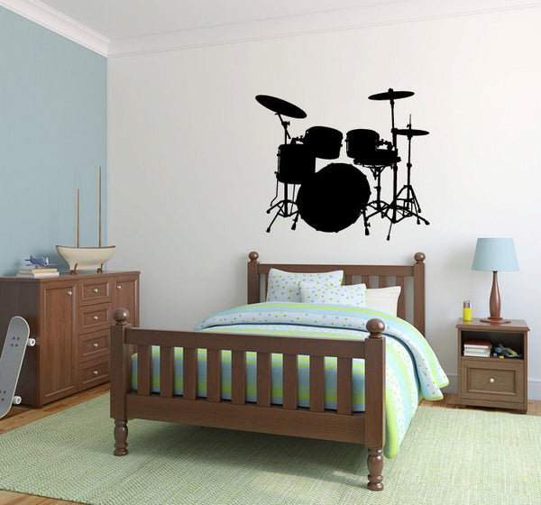 Drum Set Vinyl Wall Decal Sticker  - 1