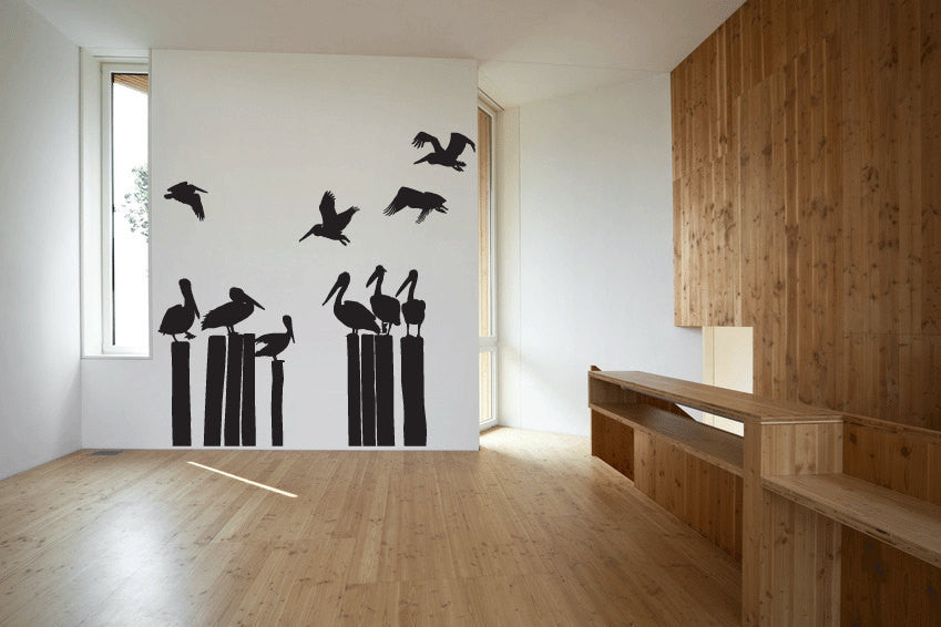 Pelicans Vinyl Wall Decal Sticker Graphic  - 1