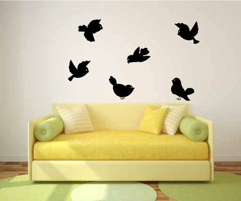 Bird Wall Decal Sticker Graphic Set of 6  - 1