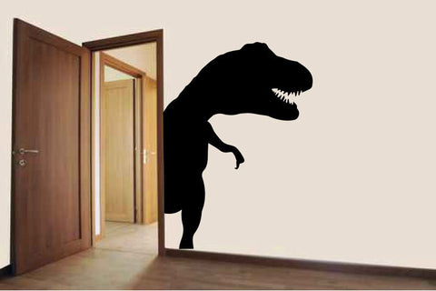 Dinosaur Door Hugger Vinyl Wall Decal Sticker Graphic  - 1