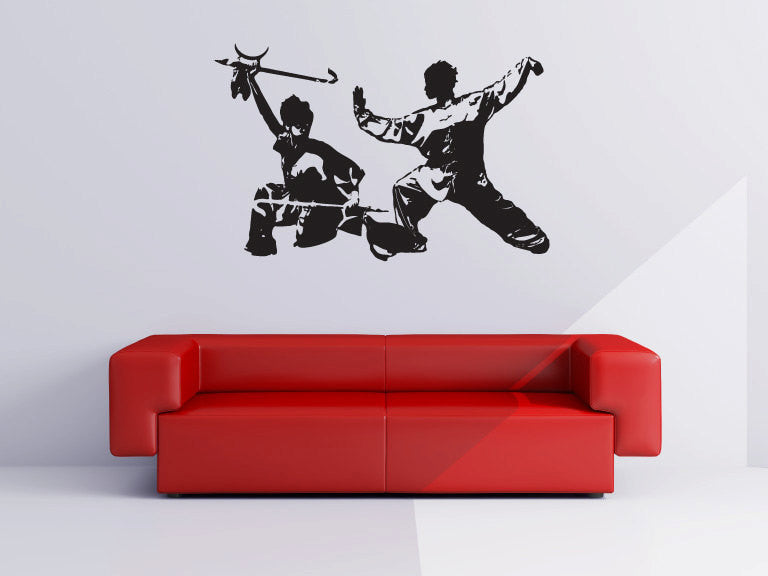 Kung Fu Martial Arts Vinyl Wall Decal Sticker Graphic Set  - 1
