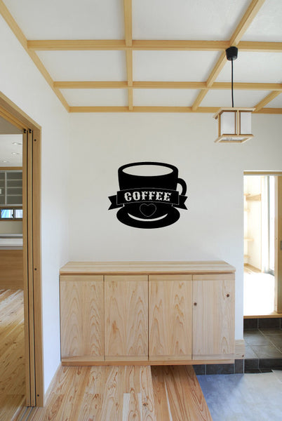 Coffee Cup Vinyl Wall Words Decal Sticker Graphic  - 1