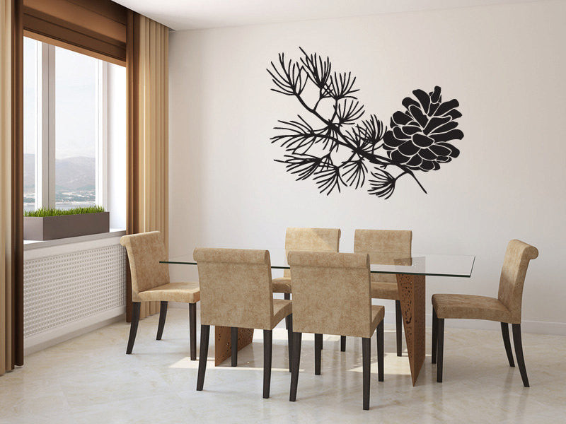 Pine Cone Vinyl Wall Decal Sticker Graphic  - 1