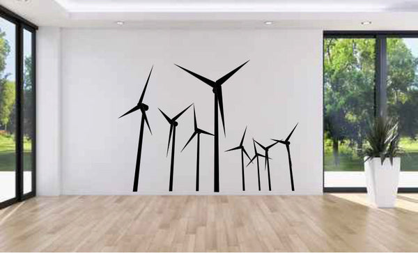 Wind Turbines Vinyl Wall Decal Sticker Graphic  - 1