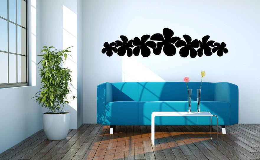 Tropical Plumeria Flowers Vinyl Wall Decal Sticker Graphic  - 1